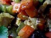 Couscous léger légumes, poulet fruits secs