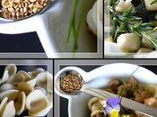 Salade tiede d'orecchiette, courgettes, poulet sesame