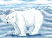 """Dessin d'un ours polaire blabla propos """"Miroir d'Ambre"""" Pullman)"""
