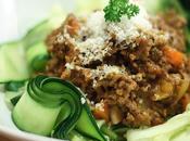 Tagliatelles courgettes sauce bolognaise