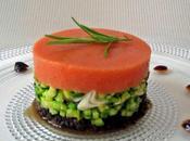 Mamina, MENU gelée tomates légumes, lotte fève tonka, framboises limoncello