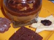 mousses café figues, coulis chocolat
