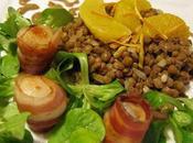 Lentilles agrumes noix St-Jacques