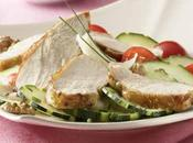Recette salade suprêmes pintade grillés plancha