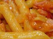 Penne lardons tomates pimentées