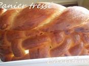 Panier tressé pâte pain