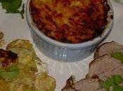 Filet mignon porc courgettes, gratin patates douces