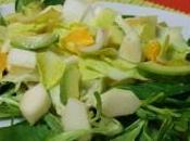 Salade mâche, endives, poire, orange avocat