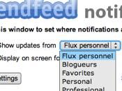 Notifications FriendFeed temps réel votre poste travail