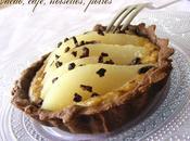 Tartelettes choco-poire crème noisette café