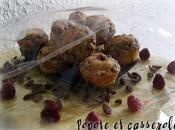 Muffins lait coco pétales cacao coeur fruité