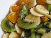 Salade fruits sirop vanille