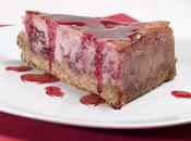 Cheesecake griottes pétales rose