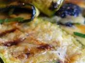 Clafoutis courgettes, amande olives