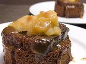 Mini-charlottes pain d'épices pommes, sauce caramel