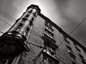 Dark city light Katowice Pologne
