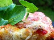 Tartine poivrons rouge grillés mozzarella