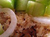 crabe, sauce concombre