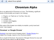 Installation Chromium, source Google Chrome