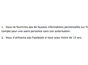 Madame, quel peut-on s'inscrire Facebook