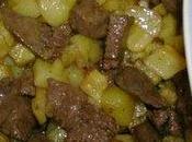 Kebda batata (foie pommes terre frites)