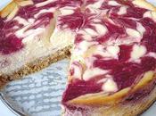 Cheesecake marbré framboise
