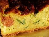 Cake épicé merguez, curry courgette