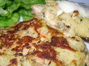 Croquettes saumon pommes terre, sauce chou fleur...