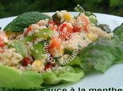 Taboulé sauce menthe