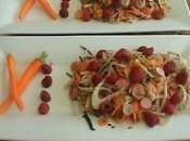Salade croquante vinaigrette framboise