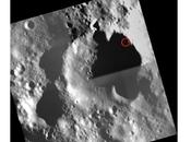 Kaguya s'écrase surface Lune