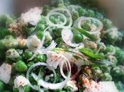 Ecossage méditatif, salade petits pois chèvre estragoné tartinade live