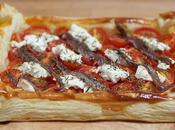 Tarte feuilletée tomates-cerises, chèvre anchois