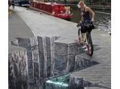 trompe-l'oeil pour ralentir cyclistes