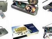 pare-soleil multimédia: lecteur DVD, console jeux,