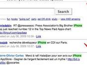 Status Search: recherche dans mises jour statuts Facebook Twitter