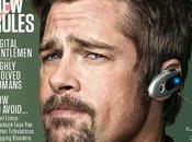geek digital gentleman... Brad Pitt couverture WIRED MAGAZINE
