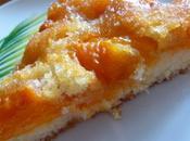 Gâteau abricots caramelisés