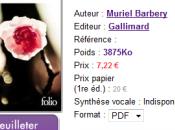 Gallimard sort l'Elégance hérisson ebook... chez Hachette