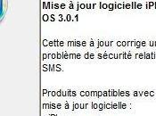 firmware 3.0.1 corrige faille