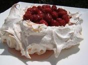Pavlova framboises gelée lavande