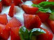 Tarte fraises basilic, crème pâtissière l'huile d'olive