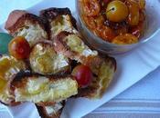 Croûtes fromage mirabelles poêlées