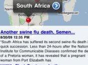 Suivre grippe H1N1 iPhone