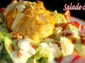 Salade césar escalope poulet panée fourrée cheddar