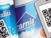 QRcode s'invite bouteilles lait Italien