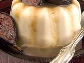 Panna cotta épicées miel, garnies crème marrons figues caramélisées vinaigre balsamique