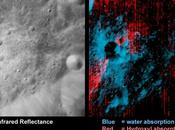 Présence d'eau surface Lune, presque partout mais petite quantité