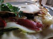 Lasagnes tomates séchées, courgettes parmesan