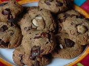 Cookies beurre cacahuete, choco, noisette